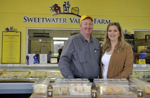 John and Celia Harrison of Sweetwater Valley Farms. Their farm, located in Philadelphia Tenn., has been recognized as the Innovative Dairy Farmer of the Year by the International Dairy Foods Association. (J. MILES CARY/NEWS SENTINEL )